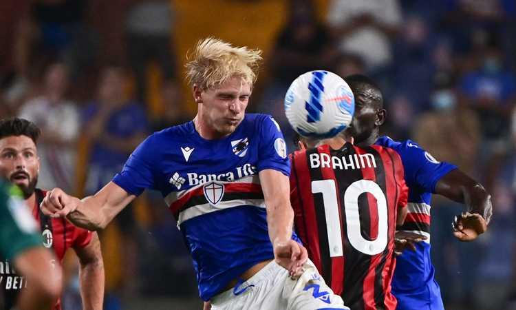 Sampdoria, Thorsby è il più 'cattivo' della Serie A
