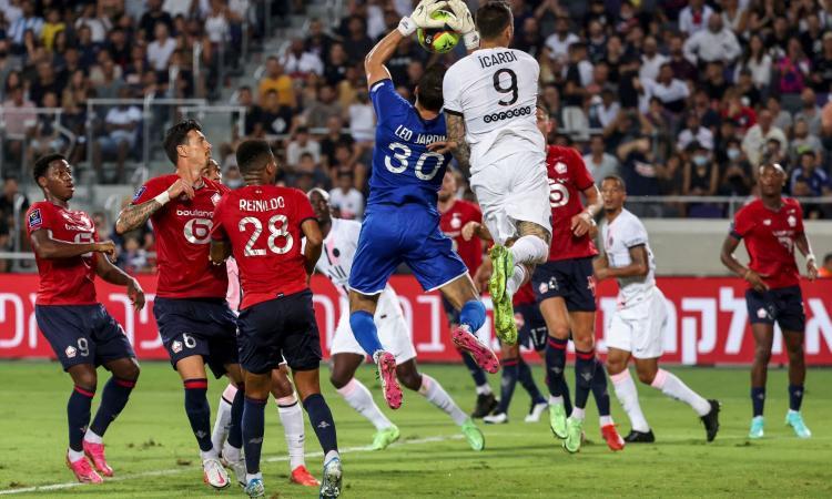 Psg ko con il Lille, Icardi si becca un 3: 'Mai in partita'