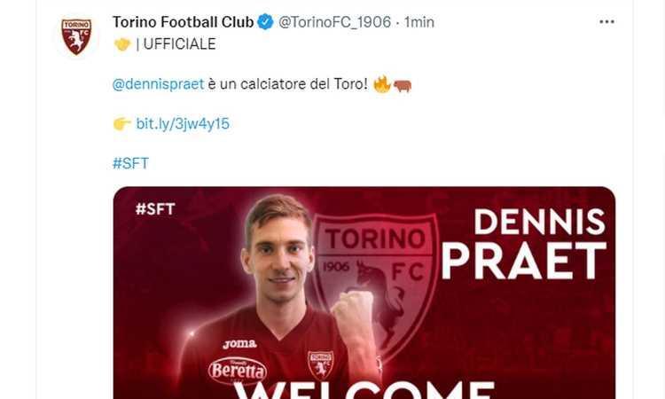 Torino, Praet: 'Centrocampista o trequartista è uguale. Belotti capitano vero'