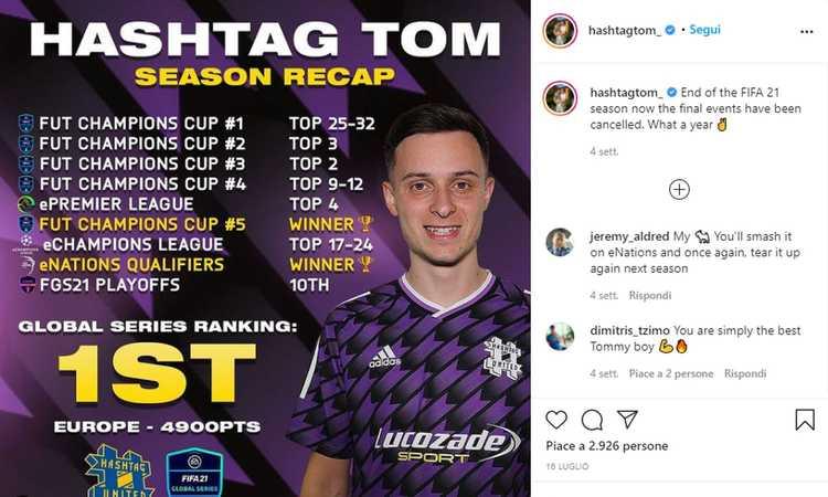 Fifa, si muove il mercato dei gamer: Tom Leese di Hashtag United verso un trasferimento 'primo nel suo genere'