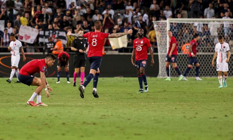 Il Lille fa ancora la storia! Batte il PSG e vince la sua prima Supercoppa di Francia. Decide un gran gol di Xeka