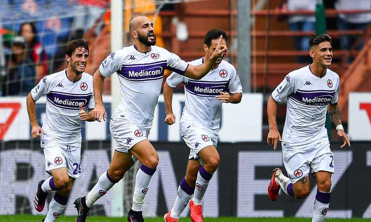 Show di Saponara e Bonaventura: la Fiorentina batte il Genoa a Marassi
