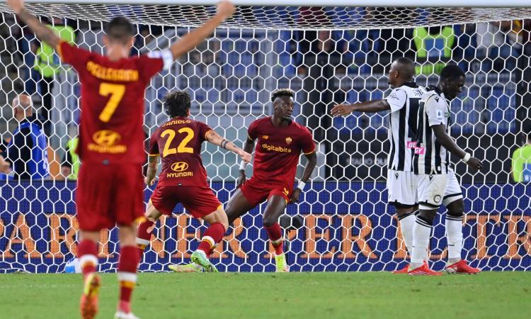 Roma-Udinese, le pagelle di CM: Abraham da smoking, Deulofeu indiavolato