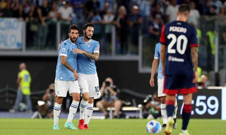 Cataldi salva la Lazio, ma è solo 2-2 con il Cagliari all'Olimpico
