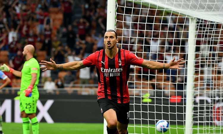 Milan, dal ginocchio operato al gol: 3 mesi di Ibra in due foto