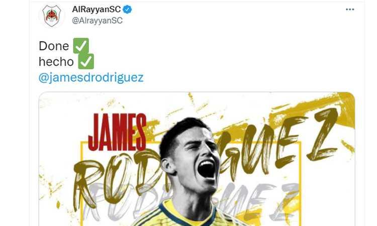Al Rayyan, UFFICIALE: ecco James Rodriguez. E' stato nel mirino del Milan