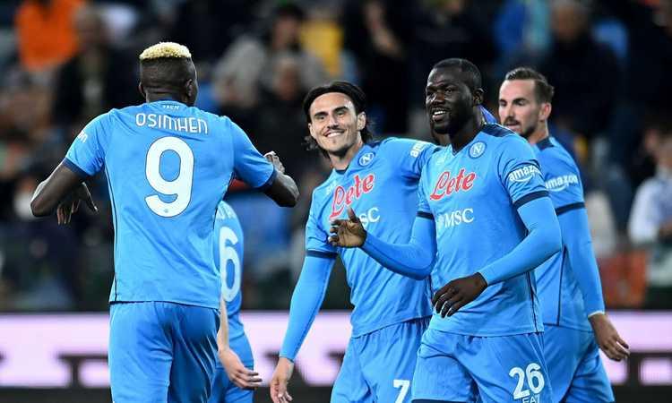 Il Napoli domina a Udine: 4-0, Spalletti è solo in testa alla classifica