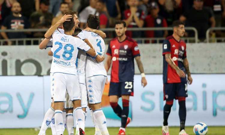 Serie A: colpo Empoli a Cagliari! Salernitana da 0-2 a 2-2 col Verona
