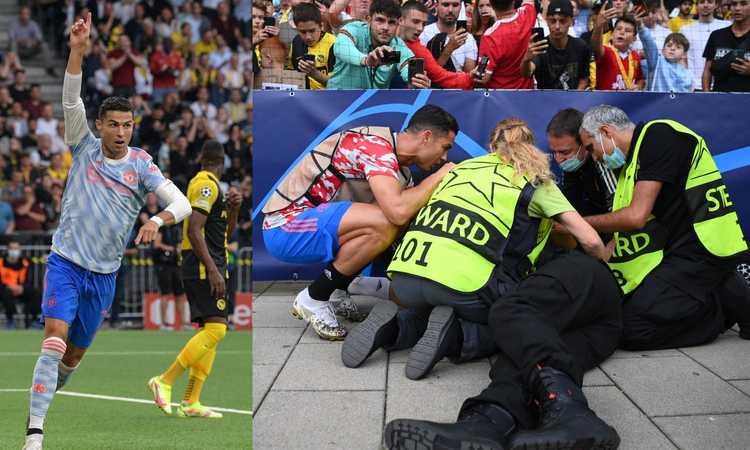 Ronaldo lascia sempre il segno: 'abbatte' una steward, segna un gol e centra un nuovo record
