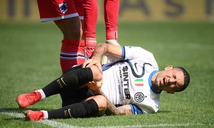 Inter, UFFICIALE: lesione al collaterale per Sensi. Esami ok per Bastoni, può farcela per il Real