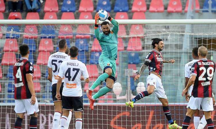 Sirigu salva il Genoa all'ultimo: 2-2 a Bologna tra le polemiche, espulso Mihajlovic. LA CLASSIFICA