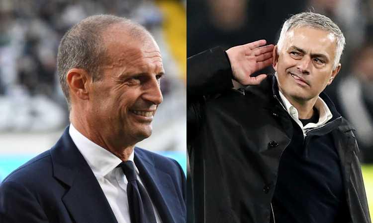 Juve-Roma: quante frecciate tra Allegri e Mourinho VIDEO