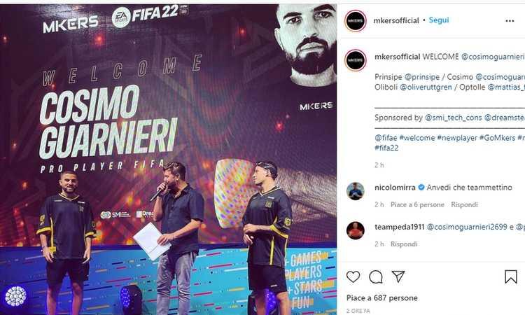 Fifa 22, si muove il mercato eSports: i Mkers ingaggiano Cosimo Guarnieri
